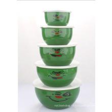 10-18cm 5PCS Emaille-Salat-Schüssel (LFC1138)