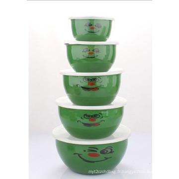 10-18cm 5PCS Enamel Salad Bowl (LFC1138)