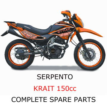 Serpento Dirt Bike KRAIT150cc Parte completa de piezas