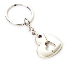 Металлический сплав цинка Подгонянное промотирование ключевая цепь формы сердца (F1389)