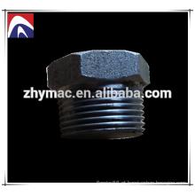 """1/4 """"plugue de rosca de tubo de aço carbono de cabeça hexagonal A105"""