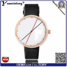 Yxl-541 2016 Hot Sale Leather Analog Quartz Cut Watch Fashion Men Women Geneva Watch Wood Color Quartz Men Watches