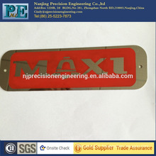 Precision electrocorrosion stainless steel logo plate for company logo