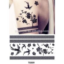 Transférer les tatouages temporaires faits sur commande décoratifs de papier de Chine