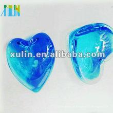 Pingentes grandes corações azuis com cristal a granel CP054