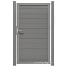 Outdoor DIY Home Door Aluminum Post WPC Composite Garden Fence and Gates Wood Plastic Composite Outdoor Gate Panel