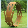 New Design Outdoor Corten Stahl Skulptur