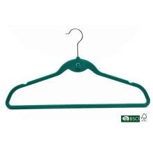 Special Fashion Green Flocked Velvet Hanger