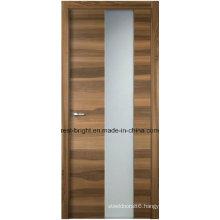 Modern Frosted Glass Wooden Interior Bedroom Doors