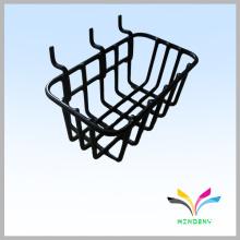 Gridwall negro alambre supermercado colgando estante de la cesta