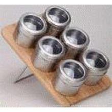 Especiero magnético de acero inoxidable (CL1Z-J0604 - 6K)