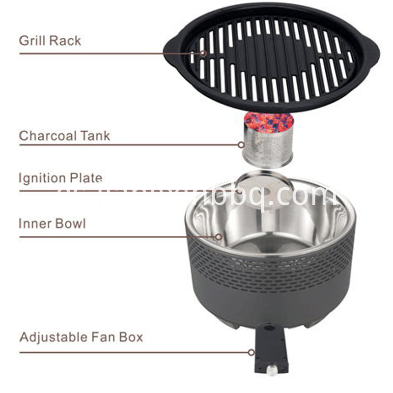 Portable Outdoor Charcoal Grill Structure