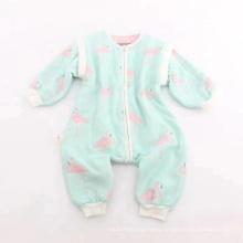 Colorful Printing Newborn Babywear Cloths, Antumn Thick Infant Baby Climbing Cloths