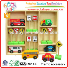 Kids Wooden Vehicles and Traffic Signs Traffic Education Toys