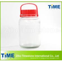 Pot de verre transparent à grande capacité