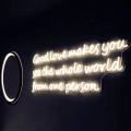 TABLERO DE DECORACION DE CASA LETRAS DE NEON LED