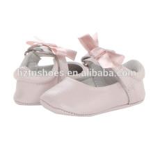 Novo modelo de bebê de couro sapatos atacado baratos Ballerina Flats
