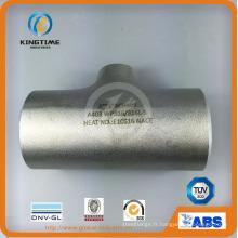 Pièce en t de l'acier inoxydable Wp304 / 304L raccord Euqal avec ISO9001: 2008 (KT0327)