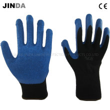 Crinkle Latex Coated Industiral Labor Protective Safety Work Gloves (LS004)