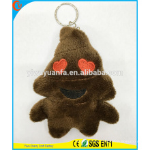 Hot Selling High Quality Novelty Design Brown Figure Pillow Keychain with Cute Expression