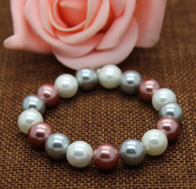color shell pearl bracelets