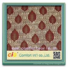 Moda más reciente diseño productos para el hogar textil poliéster hilado coloreado brillante tinte tela de chenille