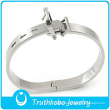 TKB-B0153 2015 stylish jewelry Love belt adjustable bangle silver 316L stainless steel mens bracelets charm