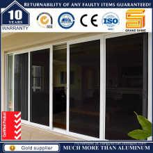 Alumínio / Alumínio Vidros Duplos Pátio Exterior Vidro Porta de correr