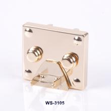 Gold Plating zinco liga Logo Custom Lock para sacos