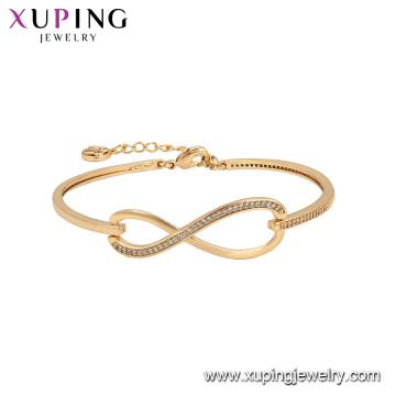 52127 xuping indien plaqué or dubai 18K or couleur mode bracelets