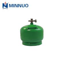 2 kg, 4.8L de cocción vacía de lpg, propano, cilindro de gas butano, botellas para África y el mercado del Medio Oriente