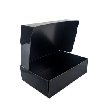 Custom Panton Printing Black Packaging Box Bergelombang