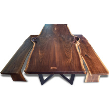 American Walnut Table Top and Stool