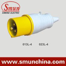 Enchufe Industrial 110V 16A / 32A 3pin Amarillo IP44 2p + E
