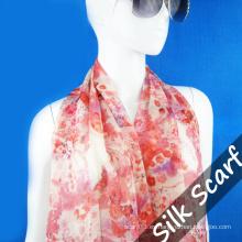 Nueva bufanda de seda larga de diseño para dama