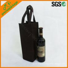 la bolsa de asas barata eco reutilizable del tenedor de la botella de vino