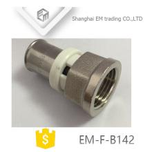 EM-F-B142 Unión hembra reductora para pex al pex latón forjado Prensa encaje