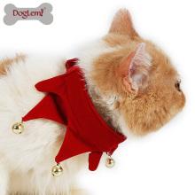 Cadeau de vacances pour animaux de compagnie Noël Costume pour animaux de compagnie chien chat chiot Jingling Bell écharpe Bandana