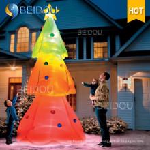 Iluminación LED colorido gigante Decoración del partido Árbol de Navidad inflable