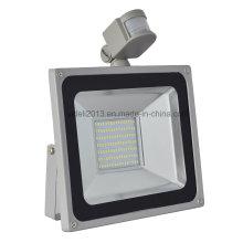 Luz al aire libre del punto de inundación de la prenda impermeable del reflector al por mayor del sensor de movimiento SMD LED de 100W PIR