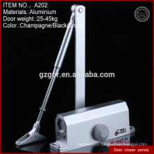 Multifunctional small square zinc alloy door closers hardware