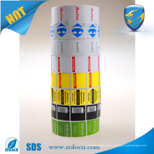 Loja de cosméticos anti roubo rf sticker 8.2mhz printing eas rf label