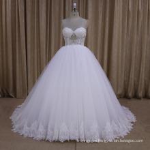 Sexy Beaded Sweetheart Ball Gown Wedding Dress 2016