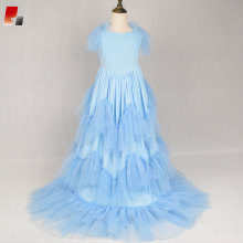 blue girls Cinderella princess dress prom costume dress