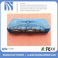 Auto USB2.0 KVM Switch 4port auto Mini-USB KVM Switch