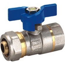 Sheath of Aluminum - Plastic Pipe Ball Valve with Butterfly (YD-1044)