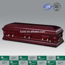 LUXES estilo americano caixão de madeira barato Nottingham_Casket fabricantes