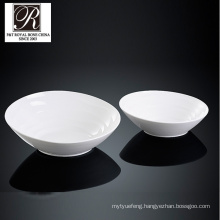 hotel ocean line fashion elegance white porcelain big bowl PT-T0612