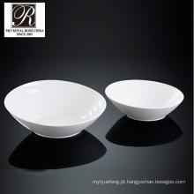 Hotel oceano linha moda elegância porcelana branca tigela grande PT-T0612