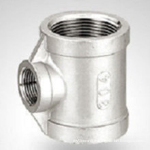 150lb Bsp / NPT Threaded Hydraulic Stainless Steel Reducer Tee